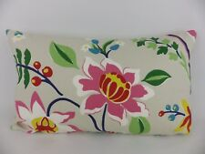 Sanderson Myrtle Fabric Large Bolster Cushion Bright Pink Blue Red Green Floral