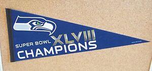 Seattle Seahawks SB Super Bowl 48 XLVIII Champions regular pennant champs