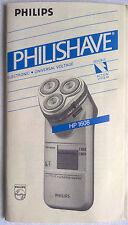 PHILIPS PHILISHAVE HP 1608 istruzione di funzionamento