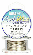 Titanium 22GA Round Craft Wire Jewelry Beading Wrapping Jump Rings 8 Yds