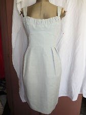 New NWT Nanette Lepore Coquette dress light bue full skirt bustier top sz 8