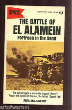 THE BATTLE OF EL ALAMEIN, Fortress in the Sand by Majdalany  US 1st  SB ed VG
