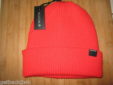 NEW* NIXON BEANIE Cap HAT MENS OSFA S M L Regain Orange