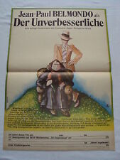 r3 W/2/14 DDR Filmposter Filmplakat Der Unverbesserliche Jean-Paul Belmondo