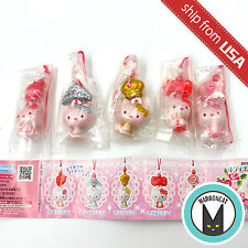 Lot 5pcs Hello Kitty Gashapon Phone Charm Strap figure Keychain Sanrio Bandai