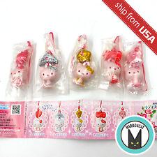 Lot 5pcs Hello Kitty Gashapon Phone Charm Strap figure Keychain Sanrio Bandai