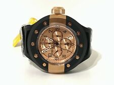 Invicta Mens 17393 S1 Rally Rose Gold Dial Black Silicone Band Watch Quartz