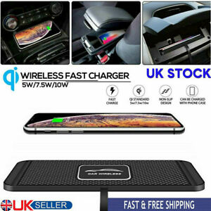 QI Wireless Car Charger Mat Non-Slip Pad Holder Fast Charging For IPhone Samsung