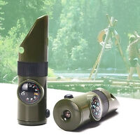 7-in-1 Kit Tactical Whistle Outdoor Camping Survival Pfeife More-Ausrüstung /DE