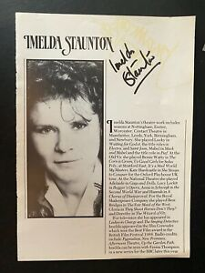 IMELDA STAUNTON - HARRY POTTER FILM ACTRESS - SIGNED THEATRE PROGRAMME PAGE