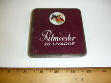 VINTAGE RITMEESTER 20 LIVARDE CIGAR TIN BOX. EMPTY. FROM HOLLAND