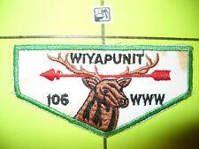 OA Wiyapunit Lodge 106,F-2,1950s Elk Flap, Black Name,TLS,41,120,279,Illinois,IL