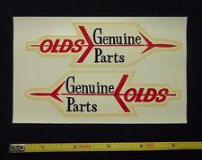 Genuine Olds Parts Water Slide Decal Sticker~Original 60's Vintage~Sheet of 2