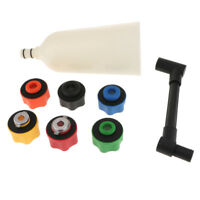8Pcs 2L Oil Funnel Filling Kit Automotive Fast Oil Filling With 6 Adapters