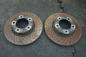 Set Front Brake Disc Rotor 98135140101 OEM Porsche Boxster Cayman 981 2013-16