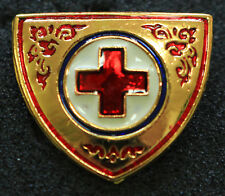 THAILAND RED CROSS SOCIETY - OFFICIAL GOLDEN COLOUR SHIELD METAL PIN PATCH