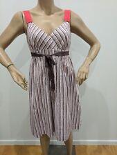 Jacqui E stripe tea party dress size 10