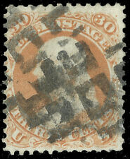 Scott 71 - The 1861 30 Cent Franklin Stamp, with Fancy Cancel - Used