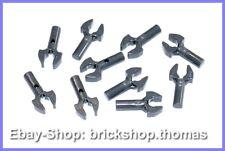 Lego 10 x mechanische Hand Griff grau / Dark Bluish Gray Claw 48729b - NEU / NEW