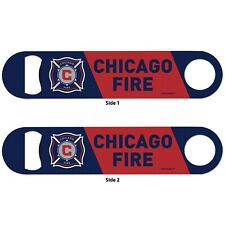 Chicago Fire MLS Red and Blue 2-sided Stainles Steal Bottle Opener