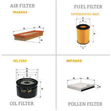 WIX AIR POLLEN OIL & FUEL Filter Service Kit WA6684,WP6880,WL7254,WF8254