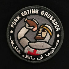 PORK EATING CRUSADER USA ISAF US ARMY MORALE ISIS TACTICAL SWAT HOOK PATCH