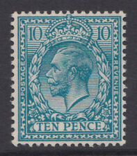 SG 394a 10d Deep Turquoise Blue N31 (3)  in very fine and fresh lightly mounted