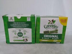 (LOT OF 2) Greenies Original Teenie Natural Dog Dental Treats 130