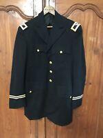 Vintage US Army 1st Lieutenant Dress Blue Uniform Jacket Vietnam War Size M