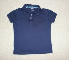 Eddie Bauer Girls school uniform polo shirt navy Blue size 6X short sleeve