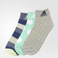 adidas 3 PACK Women's Thin Ankle Socks Graphic Print Multipack Multicolour