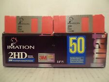 "50 Pack Rainbow Imation IBM 3.5"" Formatted 3M Floppy Disc Diskettes 2HD NOS New"