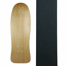 """Old School Skateboard Deck 9.8"""" x 30.25"""" Natural with Griptape"""