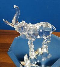 """Swarovski crystal Mother Elephant swan logo 4-1/2""""x 4-1/2"""""""