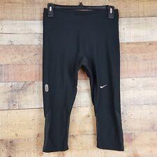 Nike Dri-Fit Yoga Capri Athletic Pants Womens Size XS (0-2) Black L4