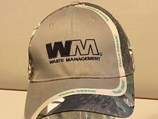 Waste Management WM Trash Salvage Hauler NICE Camo Fish Hunting  Fit Hat Cap