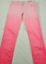 girls Aeropostale jeans size 13/14R low rise skinny pink ombre cotton/spandex