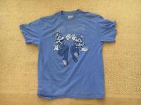 Blue Super Mario Bros Tag Team Nintendo NES Vintage Video Game Men's T shirt L
