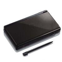SCHWARZ Nintendo DS Lite NDSL Gehäuse Ersatz Deckel Shell Teile Full Outside Set