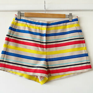 J CREW Womens Stripped Summer patterned shorts. Size 12 UK (size 10 US)