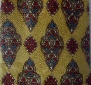 Gold Brown Foulard DUNHILL Silk Tie