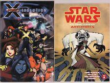 COMIC DIGEST 2 BOOK  LOT STAR WARS CLONE ADVENTURES VOL 8 & X-MEN EVOLUTION NEW