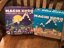 Machi Koro Base Game & Machi Koro Bright Lights Big City Exclusive Card Game