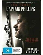 CAPTAIN PHILLIPS - 2014  DVD (TOM HANKS) PAL 2,4,5 = SEALED = FREE LOCAL POST