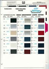 1990 VOLVO PAINT CHIPS (DUPONT AND PPG)