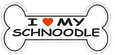 Love My Schnoodle Bumper Sticker or Helmet Sticker D2531 Dog Bone Decal