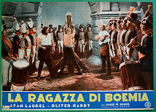 T34 FOTOBUSTA LA RAGAZZA DI BOEMIA STAN LAUREL OLIVER HARDY STANLIO OLLIO 3