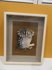 Jack Eisner Three-D paper Sculpture of Owl, Pencil Signed, Shadowbox Framed