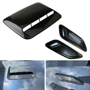 ABS Car Truck Hood Scoop Center and Side Air Flow Vent Intake Decorative Covers