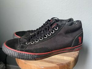 CHROME INDUSTRIES Kursk Bike Sneaker Shoe Black Red Sole Mens Size 10